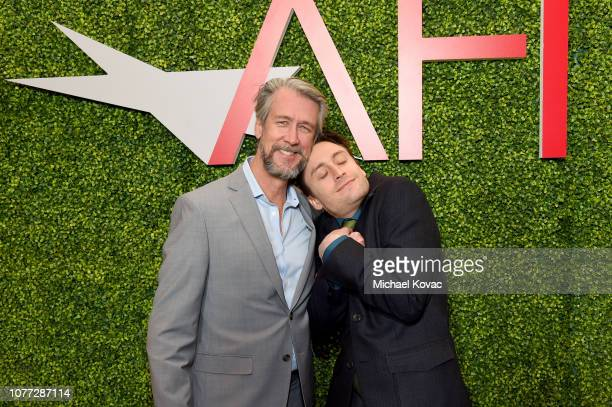 Actor Alan Ruck and Actor Kieran Culkin attend the 19th Annual AFI Awards at Four Seasons Hotel Los Angeles at Beverly Hills on January 4 2019 in Los...