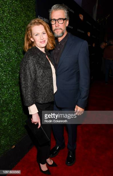 Actor Alan Ruck and Mireille Enos attend the premiere of Cinedigm Entertainment Group's 'SGT Will Gardner' at ArcLight Hollywood on January 08 2019...