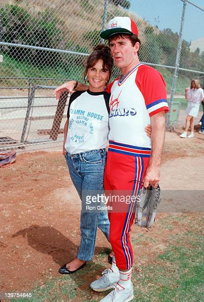 Actor Alan Thicke and actress Ali McGraw attending 'Hollywood AllStars Softball Game' on June 13 1987 at Pepperdine University in Malibu California