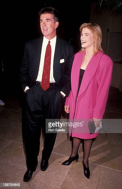 Actor Alan Thicke and actress Kristy Swanson attending 10th Annual Scott Newman Foundation Gala on November 9 1990 at the Beverly Hilton Hotel in...
