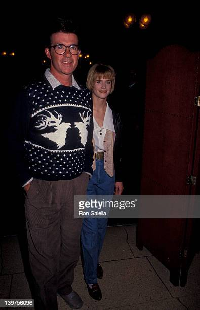 "Actor Alan Thicke and actress Kristy Swanson attending ""Banff Celebrity Sports Invitational"" on January 10, 1991 in Banff Springs, Canada."
