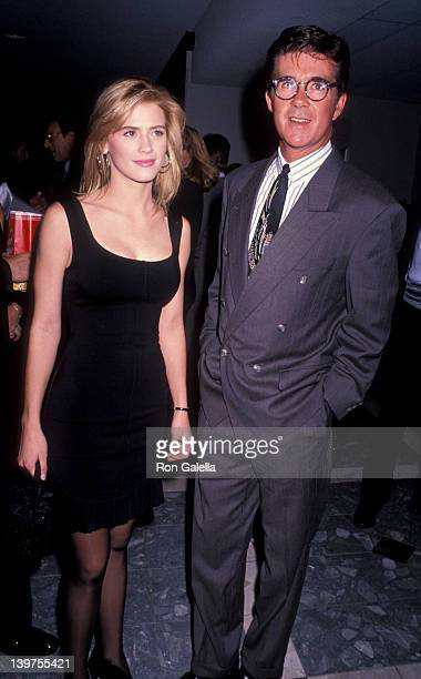 Actor Alan Thicke and actress Kristy Swanson attending the premiere of Dances With Wolves on November 4 1990 at the Cineplex Odeon Cinema in Century...