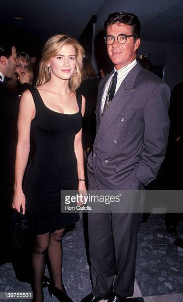 "Actor Alan Thicke and actress Kristy Swanson attending the premiere of ""Dances With Wolves"" on November 4, 1990 at the Cineplex Odeon Cinema in..."