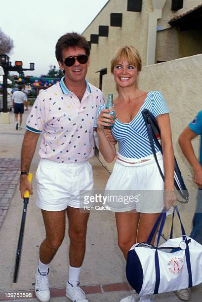 Actor Alan Thicke and actress Pat Klous attending Third Annual Make A Wish Celebrity Sports Festival on May 9, 1987 at La Casa de Vida in Torrance,...