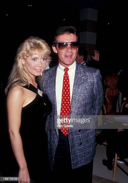 Actor Alan Thicke and date Debra Sandlund attending Grand Opening of the LA Sports Club on March 28 1987 in Santa Monica California