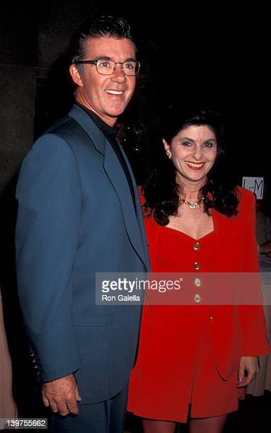 Actor Alan Thicke and date Gloria Allred attending The Scott Newman Center Gala Honoring George Schlatter on November 1 1992 at the Beverly Hilton...