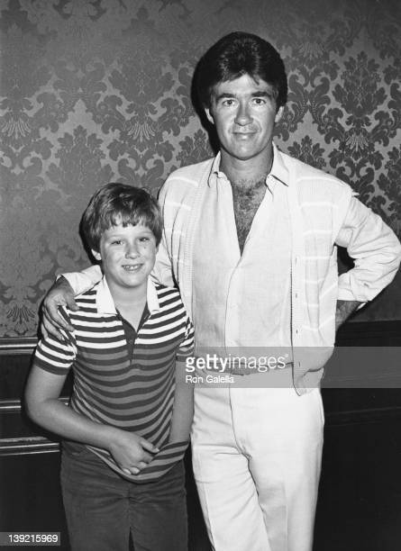 Actor Alan Thicke and son Brennan Thicke attending Celebrity Fashion Show Benefiting Windfeather on June 10 1984 at the Beverly Wilshire Hotel in...
