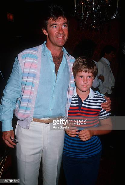 Actor Alan Thicke and son Brennan Thicke attending Connie Stevens Celebrity Fashion Show Benefit on June 10 1984 at the Beverly Wilshire Hotel in...