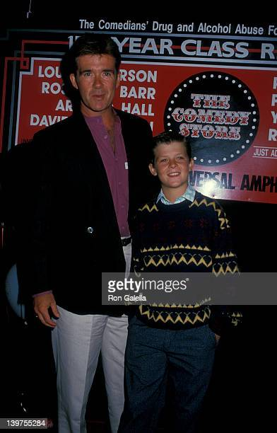 Actor Alan Thicke and son Brennan Thicke attending The Comedy Store's 15th Annual Class Reunion on July 31 1988 at the Universal Ampitheater in...