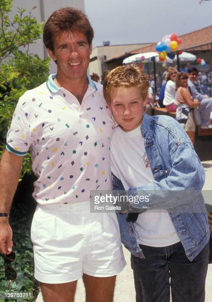 Actor Alan Thicke and son Brennan Thicke attending Third Annual Make A Wish Celebrity Sports Festival on May 9 1987 at La Casa de Vida in Torrance...