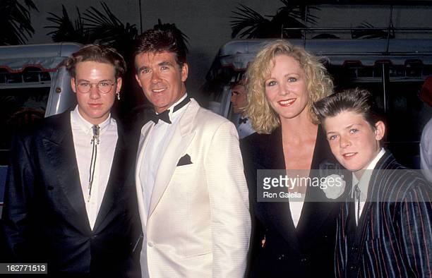 Actor Alan Thicke and sons Brennan Thick and Robin Thicke and Actress Joanna Kerns attend the Celebration of Tradition A Gala Event Gathering Warner...