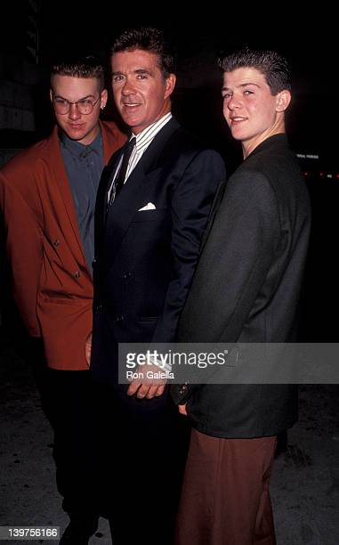 Actor Alan Thicke and sons Brennan Thicke and Robin Thicke attending And You Thought Your Parents Were Weird on November 13 1991 at the Beverly...