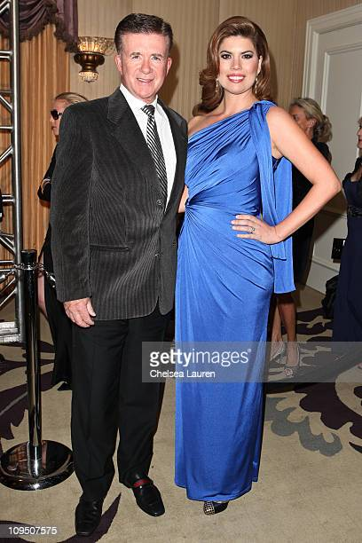 Actor Alan Thicke and wife, actress Tanya Callau arrive at the 21st Annual Night of 100 Stars Awards Gala at Beverly Hills Hotel on February 27, 2011...