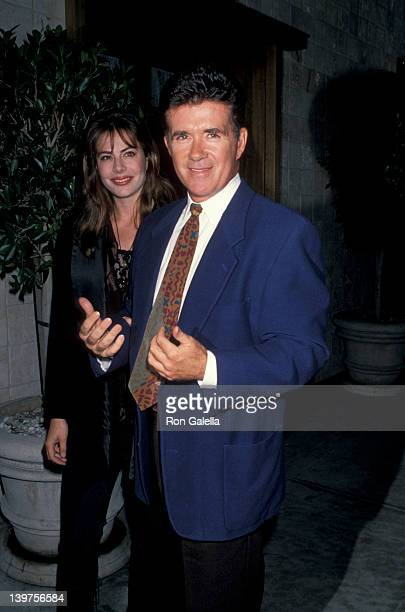 Actor Alan Thicke and wife Gina Tolleson attending Birthday Party for Nikki Haskell on May 18 1994 at Tattoo Club in Beverly Hills California