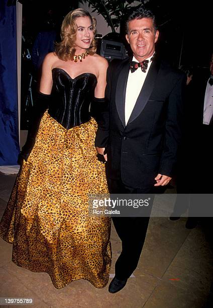 Actor Alan Thicke and wife Gina Tolleson attending Carousel of Hope Ball Benefit on October 28 1994 at the Beverly Hilton Hotel in Beverly Hills...