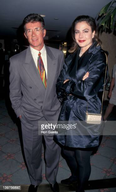 Actor Alan Thicke and wife Gina Tolleson attending Cool ComedyHot Cuisine Scolerdama Foundation Benefit on November 12 1995 at the Santa Monica Beach...