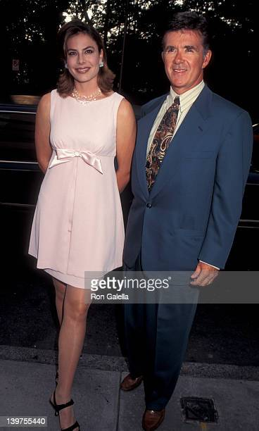 Actor Alan Thicke and wife Gina Tolleson attending Dean Witter Celebrity Paintings Exhibit on July 12 1995 at the Guggenheim Museum in New York City...