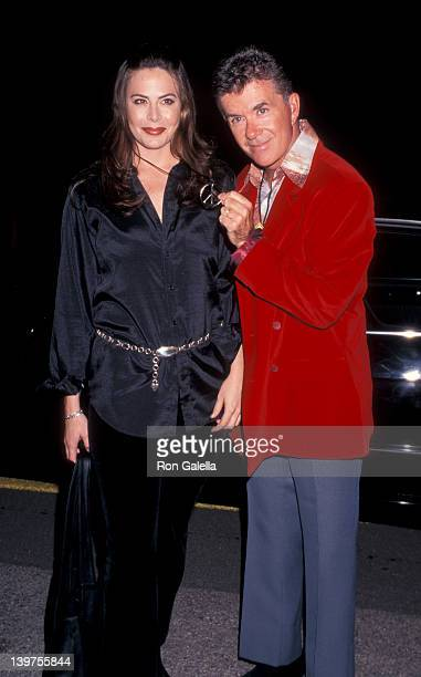 Actor Alan Thicke and wife Gina Tolleson attending Neil Bogart Fundraising Gala Honoring David Foster on November 15 1997 at the Barker Hanger at...