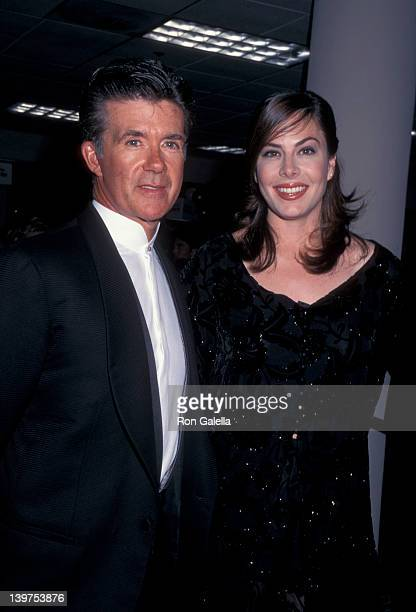 Actor Alan Thicke and wife Gina Tolleson attending Seventh Annual GLAAD Media Awards on March 10 1996 at the Century Plaza Hotel in Century City...