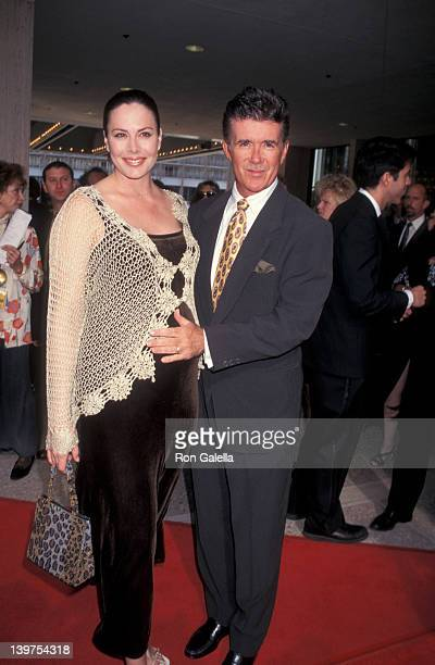 Actor Alan Thicke and wife Gina Tolleson attending the opening of Ragtime on June 15 1997 at the Shubert Theater in Century City California
