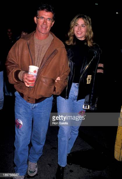 Actor Alan Thicke and wife Gina Tolleson attending The Rolling Stones Voodoo Lounge Tour Concert on October 21 1994 at the Rose Bowl in Pasadena...
