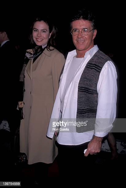 Actor Alan Thicke and wife Gina Tolleson attending the screening of Kissing A Fool on February 18 1998 at Mann Plaza Theater in Westwood California