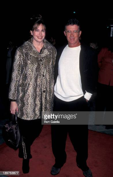 Actor Alan Thicke and wife Gina Tolleson attending the world premiere of The Rainmaker on November 18 1997 at the Paramount Theater in Hollywood...