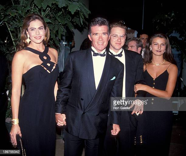 Actor Alan Thicke date Gina Tolleson son Brennan Thicke and date attending Carousel of Hope Ball Benefit on October 2 1992 at the Beverly Hilton...