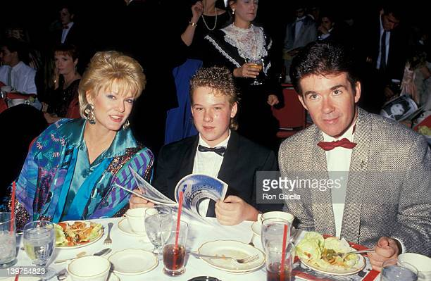 Actor Alan Thicke wife Gloria Loring and son Brennan Thicke attending Nineth Annual Youth In Film Awards on December 5 1987 at the Hollywood...