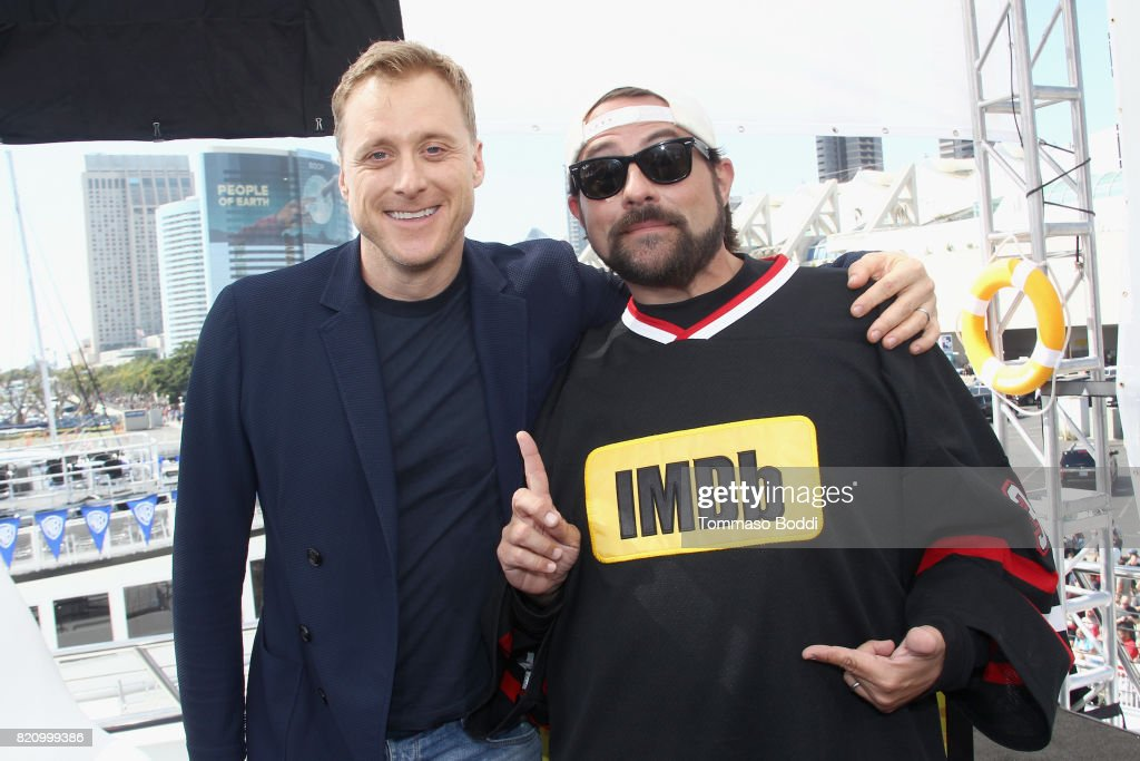 Actor Alan Tudyk and host Kevin Smith on the #IMDboat at San Diego Comic-Con 2017 at The IMDb Yacht on July 22, 2017 in San Diego, California.
