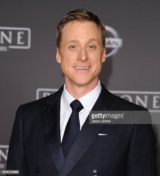 Actor Alan Tudyk attends the premiere of 'Rogue One A Star Wars Story' at the Pantages Theatre on December 10 2016 in Hollywood California