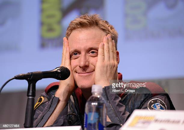 Actor Alan Tudyk speaks onstage during 'Con Man' The Fan Revolt 13 Years In The Making panel during ComicCon International 2015 at the San Diego...