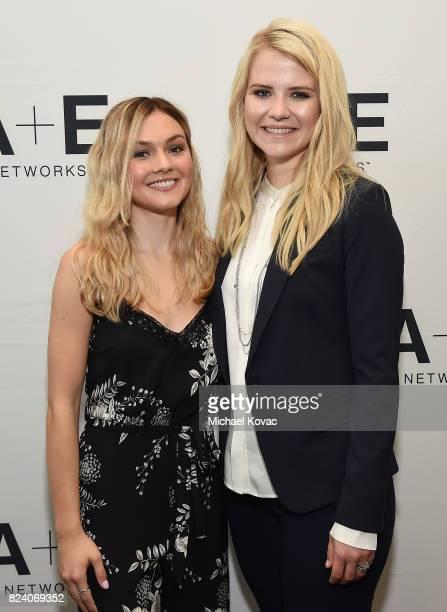 Actor Alana Boden and narrator/producer Elizabeth Smart of 'I Am Elizabeth Smart' at the A+E Networks portion of the 2017 Summer Television Critics...