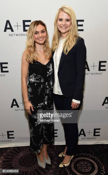 Actor Alana Boden and narrator/producer Elizabeth Smart of 'I Am Elizabeth Smart' at the AE Networks portion of the 2017 Summer Television Critics...