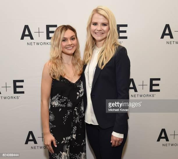 Actor Alana Boden and narrator/producer Elizabeth Smart of 'I Am Elizabeth Smart' at the AE Networks portion of the 2017 Summer Television Critics...