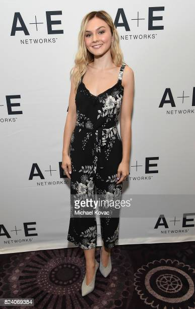 Actor Alana Boden of 'I Am Elizabeth Smart' at the AE Networks portion of the 2017 Summer Television Critics Association Press Tour at The Beverly...