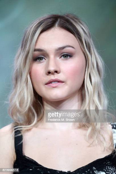 Actor Alana Boden of 'I Am Elizabeth Smart' speaks onstage during the Lifetime and A+E portion of the 2017 Summer Television Critics Association...