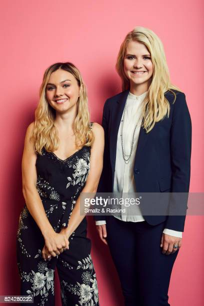 Actor Alana Bodenof and Elizabeth Smart of Lifetime and AE's 'I Am Elizabeth Smart' pose for a portrait during the 2017 Summer Television Critics...