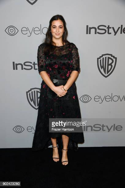 Actor Alanna Masterson attends 19th Annual PostGolden Globes Party hosted by Warner Bros Pictures and InStyle at The Beverly Hilton Hotel on January...