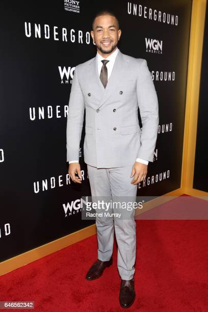 Actor Alano Miller attends WGN America's Underground Season Two Premiere Screening at Regency Village Theatre on March 1 2017 in Westwood California