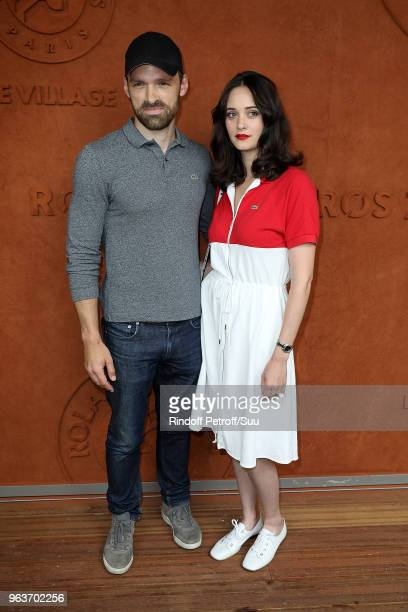 Actor Alban Lenoir and actress Anne Serra attends the 2018 French Open Day Four at Roland Garros on May 30 2018 in Paris France