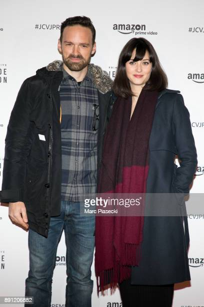 Actor Alban Lenoir and guest attend the Amazon TV series 'Jean Claude Van Johnson' Premiere at Le Grand Rex on December 12 2017 in Paris France