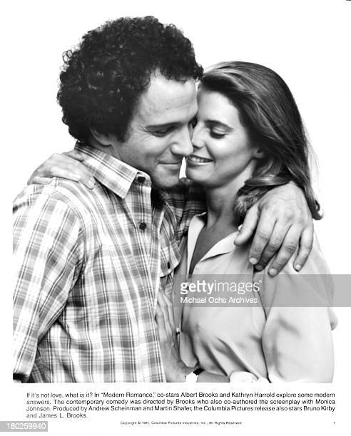Actor Albert Brooks and actress Kathryn Harrold pose for the Columbia Picture movie Modern Romance in 1981