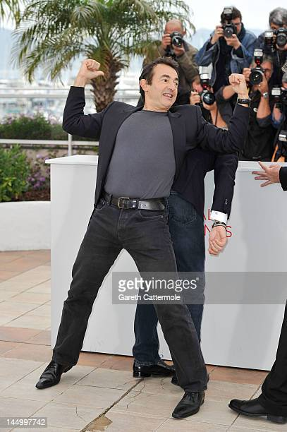 Actor Albert Dupontel poses at the 'Le Grand Soir' photocall during the 65th Annual Cannes Film Festival at Palais des Festivals on May 22 2012 in...