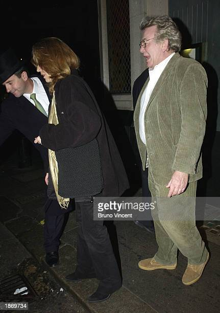 Actor Albert Finney leaves the Ivy Restuarant March 24 2003 in London England