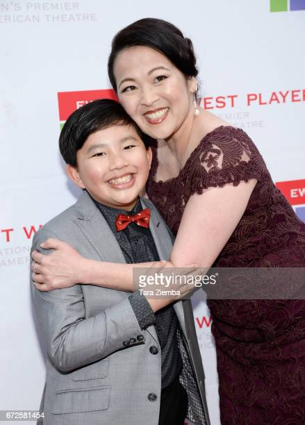 Actor Albert Tsai and actress Suzy Nakamura attend the East West Players 'Radiant' 51st Anniversary Visionary Awards and silent auction at Hilton...