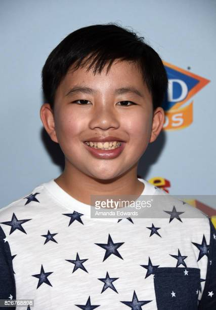 Actor Albert Tsai arrives at the premiere of Open Road Films' 'The Nut Job 2 Nutty By Nature' at the Regal Cinemas LA Live on August 5 2017 in Los...