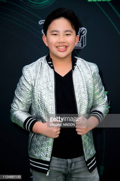 Actor Albert Tsai attends the world premiere of Disney channel original movie 'Kim Possible' in North Hollywood California on February 12 2019