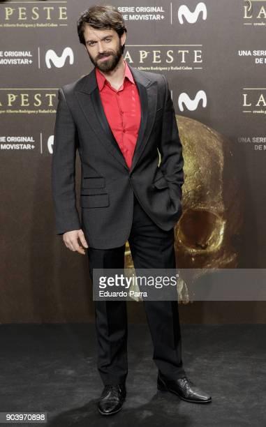 Actor Alberto Amarilla attends the 'La peste' premiere at Callao cinema on January 11 2018 in Madrid Spain