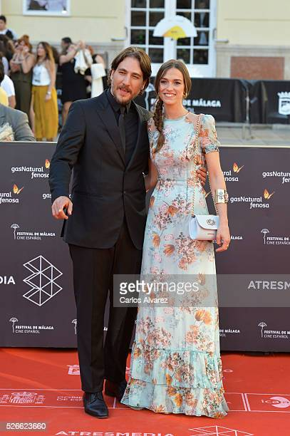 Actor Alberto Ammann attends Nuestros Amantes premiere at the Cervantes Teather during the 19th Malaga Film Festival on April 30 2016 in Malaga Spain